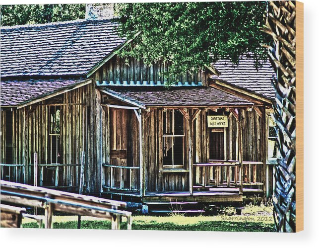 Fort Christmas Fl Wood Print featuring the photograph The Post Office by Shannon Harrington