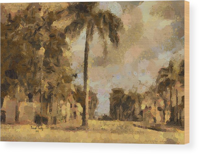 Palm Tree Wood Print featuring the photograph The Wonder Of Fort Pierce by Trish Tritz