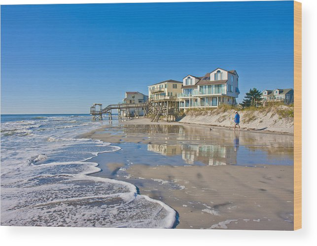 Topsail Wood Print featuring the photograph Topsail North End by Betsy Knapp