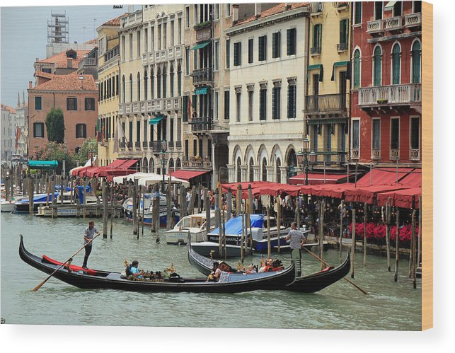 Venice Wood Print featuring the photograph Venice Grand Canal 2 by Andrew Fare