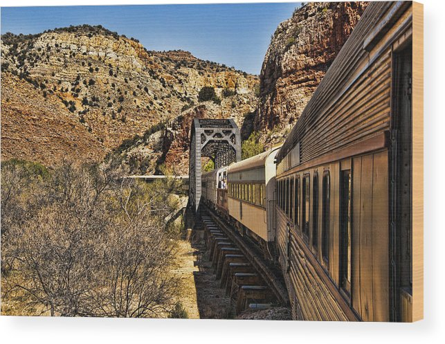 Cottonwood Wood Print featuring the photograph Verde Valley Railway by Jon Berghoff