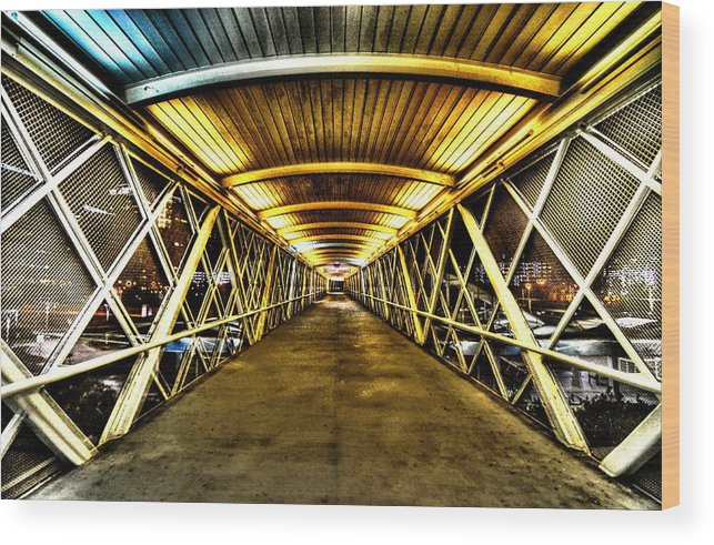 Walkway Wood Print featuring the photograph Walkway by David Morefield