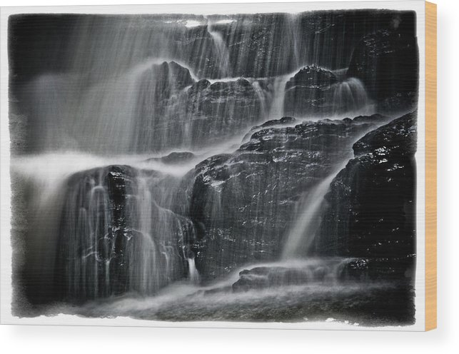 Landscape Wood Print featuring the photograph Water Over Wahconah Falls by Mike Martin