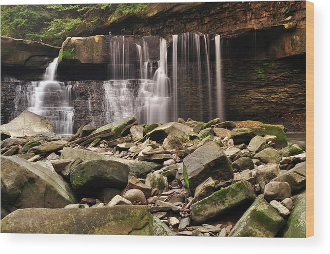 Waterfall Wood Print featuring the photograph Waterfall #2 by Patrick Friery