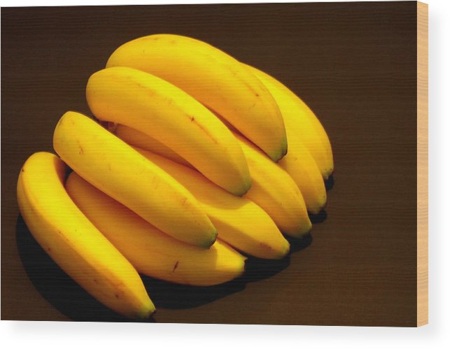 Bananas Wood Print featuring the photograph Yellow Ripe Bananas by Jose Lopez