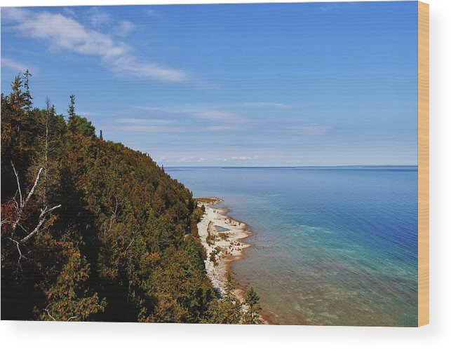 Mackinac Wood Print featuring the photograph You Can See For Miles by Rachel Cohen