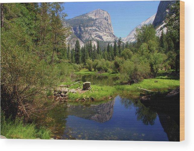 Yosemite Wood Print featuring the photograph @ Yosemite by Jim McCullaugh