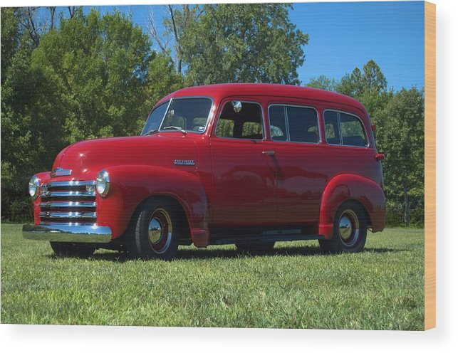 1953 Wood Print featuring the photograph 1953 Chevrolet Suburban by Tim McCullough