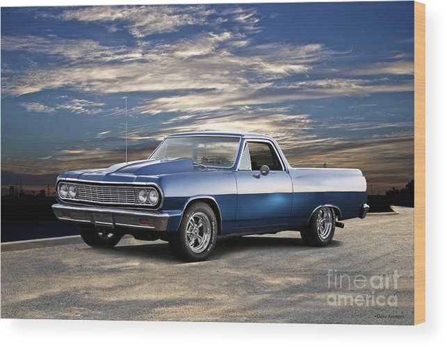 Automobile Wood Print featuring the photograph 1964 Chevrolet El Camino I by Dave Koontz
