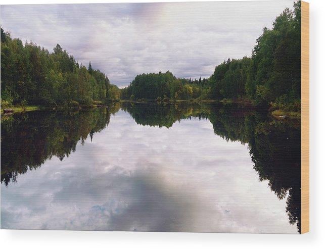 Reflection Wood Print featuring the photograph Balance by Liudmila Gerasimova