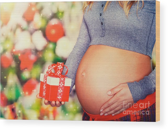 Abdomen Wood Print featuring the photograph Best Present For Christmas by Anna Om