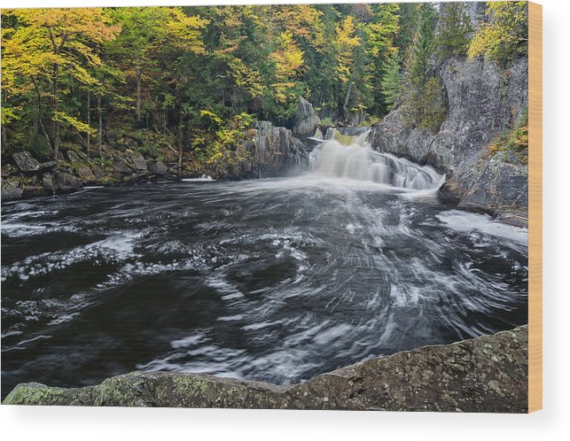 Buttermilk Falls Wood Print featuring the photograph Buttermilk Falls Gulf Hagas Me. by Michael Hubley