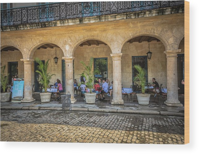 Havana Wood Print featuring the photograph Cafe by Bill Howard