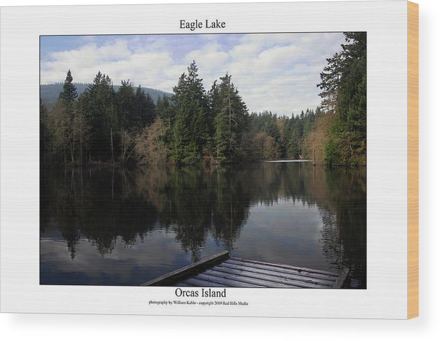 Island Photographs Wood Print featuring the photograph Eagle Lake by William Jones