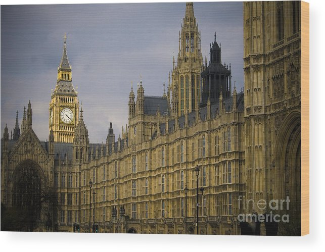 London Wood Print featuring the photograph Golden Big Ben by Joshua Francia