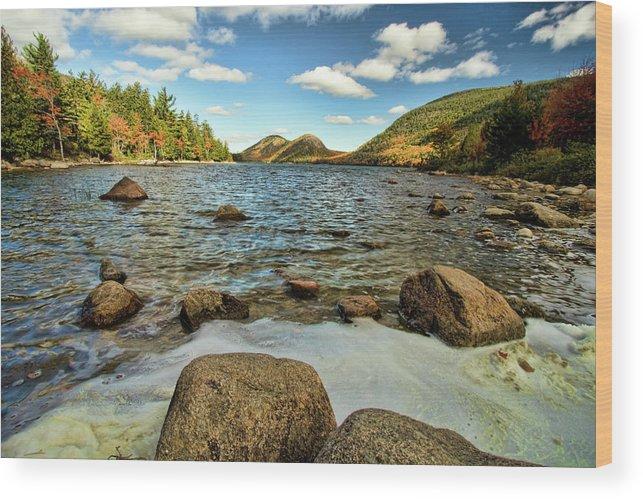 Acadia Wood Print featuring the photograph Jordan Pond by Alexander Mendoza