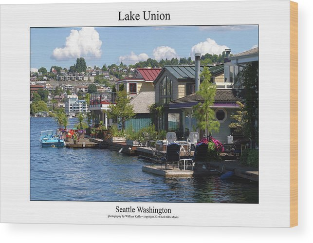 Seattle Photographs Wood Print featuring the photograph Lake Union by William Jones