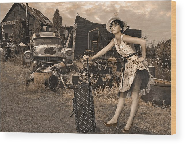 Landscape Wood Print featuring the photograph Leaving Home For Good..... by Jeff Burgess