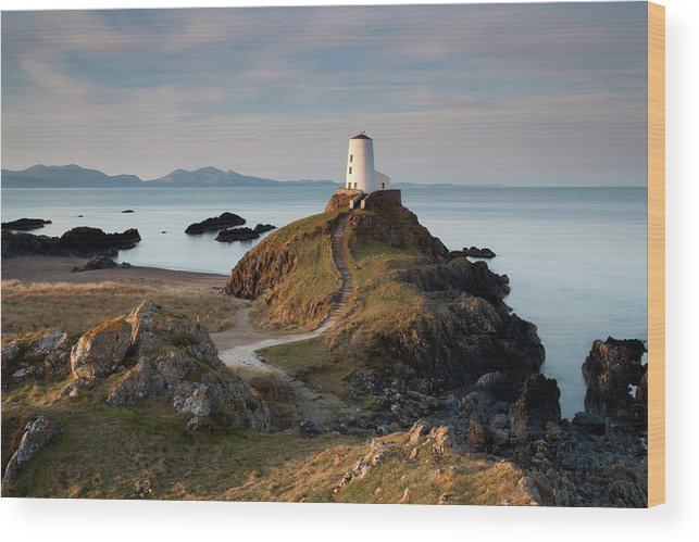 Landscape Wood Print featuring the photograph Twr Mawr Lighthouse On Llanddwyn Island by Krzysztof Nowakowski