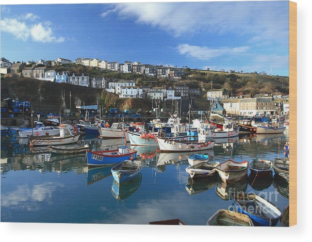 Mevagissey Wood Print featuring the photograph Mevagissey by Carl Whitfield