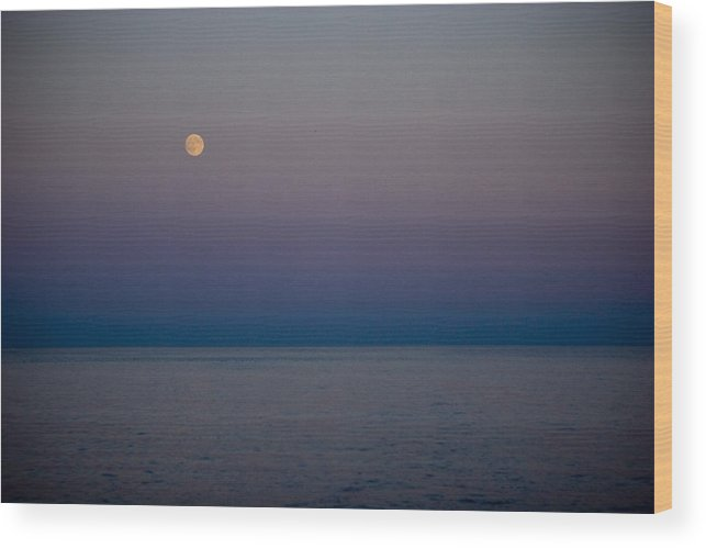 Blue Wood Print featuring the photograph Moonrise by Jack Foley