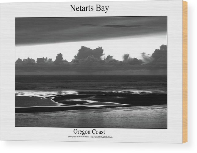 Oregon Coast Photographs Wood Print featuring the photograph Netarts Bay by William Jones