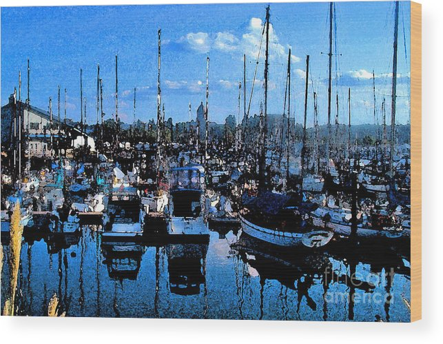 Capital Wood Print featuring the photograph Percival Landing by Larry Keahey