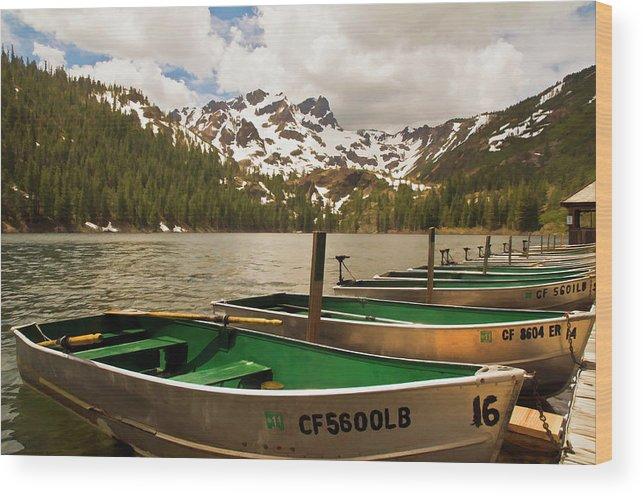 Sardine Lake Wood Print featuring the photograph Sardine Lake by Mick Burkey