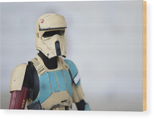 Star Wars Wood Print featuring the photograph Shoretrooper by Gregory Cook