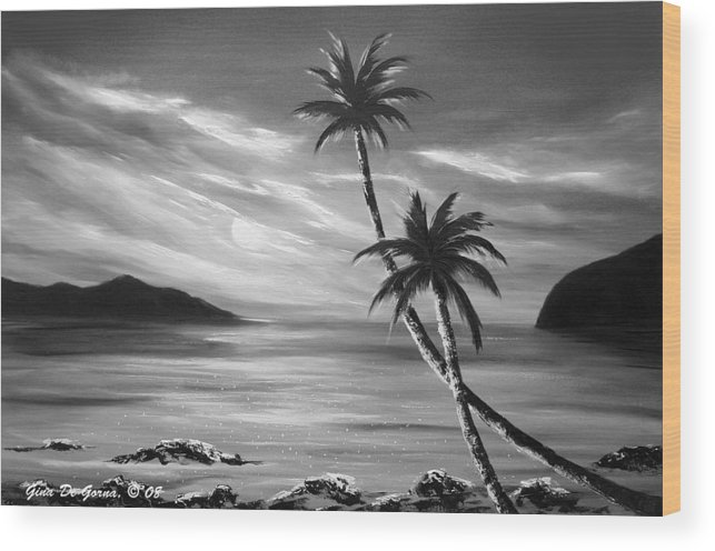 Sunset Wood Print featuring the painting Sunset In Paradise by Gina De Gorna