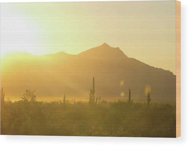 South Mountain Wood Print featuring the photograph Sunset Over South Mountain by Micah Williams