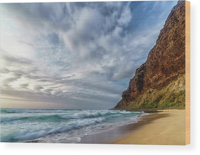 Beach Wood Print featuring the photograph Surreal by David Kulp