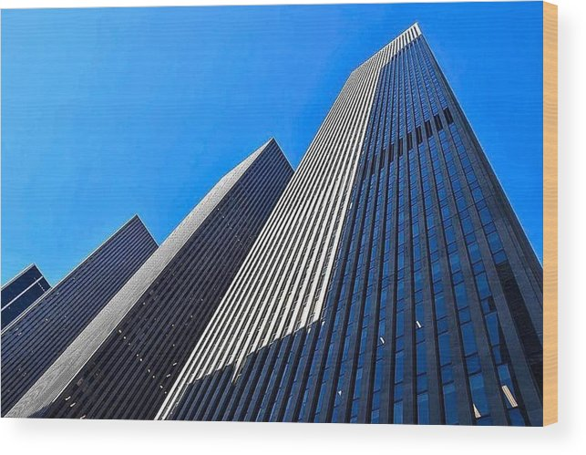New York City Wood Print featuring the photograph The Blue Way by Sonia Pizzinelli