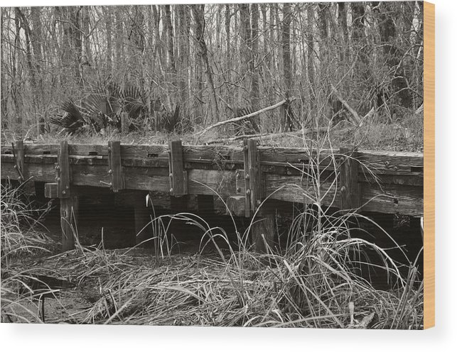 Bridge Wood Print featuring the photograph The Road Less Traveled by James Luce