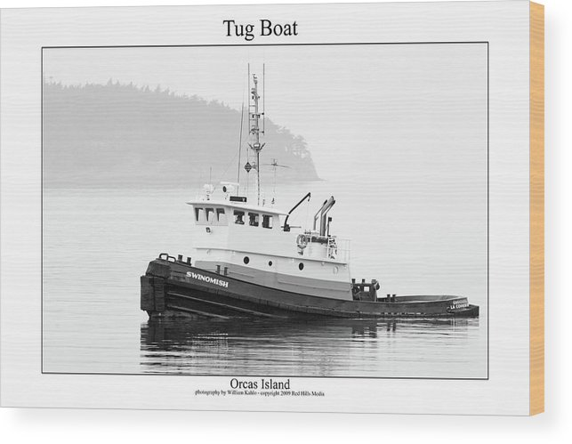 San Juan Photographs Wood Print featuring the photograph Tug Boat by William Jones