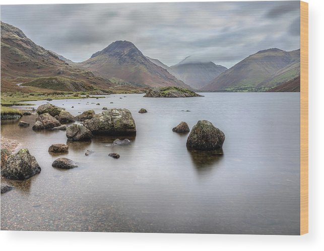 Wastwater Wood Print featuring the photograph Wastwater Long Exposure by Graham Moore