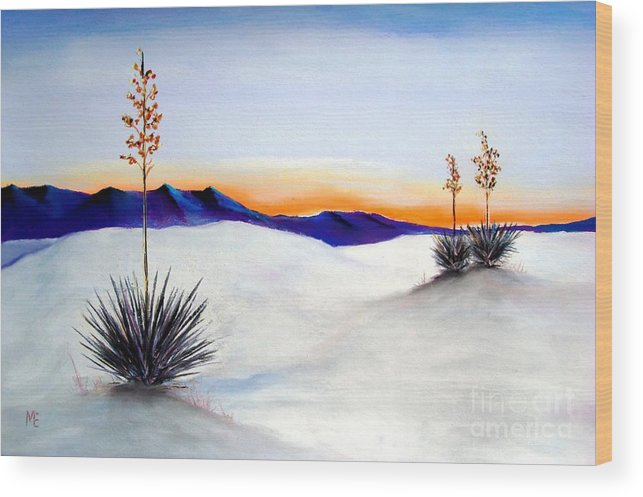 White Sands Wood Print featuring the painting White Sands by Melinda Etzold