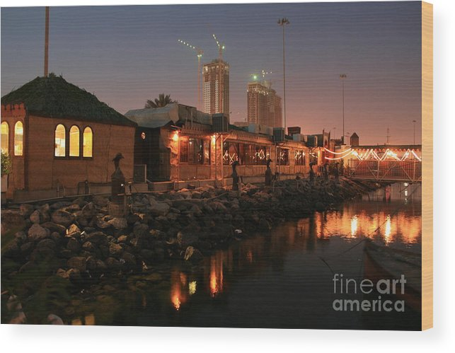 Wood Print featuring the photograph Abu Dhabi The Miracle by Valia Bradshaw