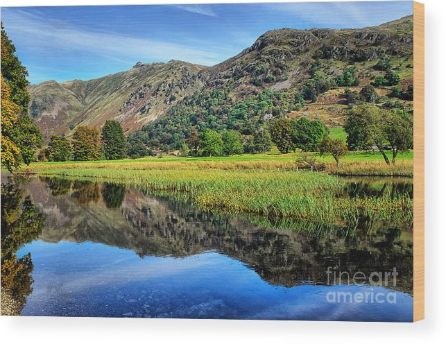 Brothers Water Wood Print featuring the photograph Brothers Water by Smart Aviation