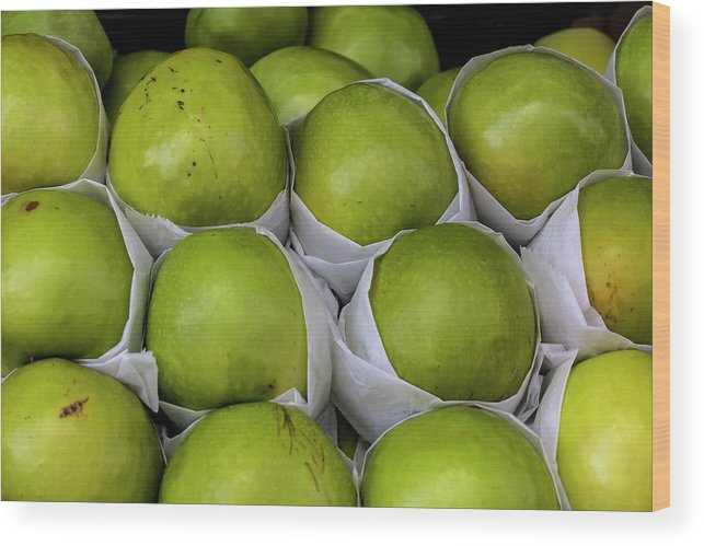 Apples Wood Print featuring the photograph Apples by Robert Ullmann