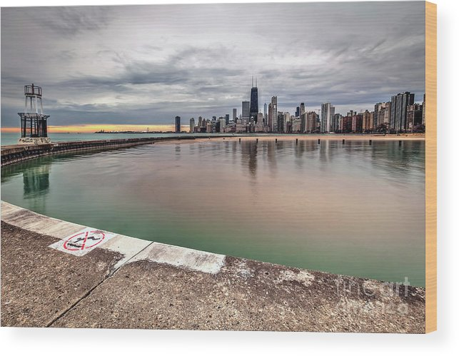 Chicago Wood Print featuring the photograph 1323 A View From The Breakwall by Steve Sturgill