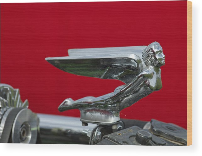 1924 Ford Wood Print featuring the photograph 1924 Ford Hood Ornament by Jill Reger