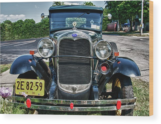 1931 Ford Wood Print featuring the photograph 1931 Ford 7374 by Guy Whiteley