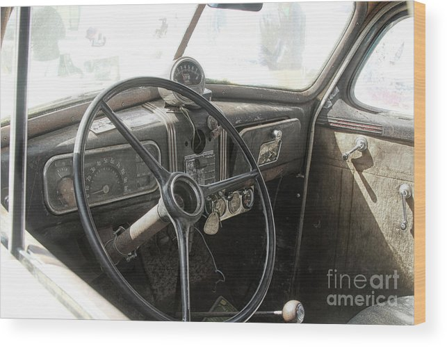 Cars Wood Print featuring the photograph 1937 Chevy by Steven Digman