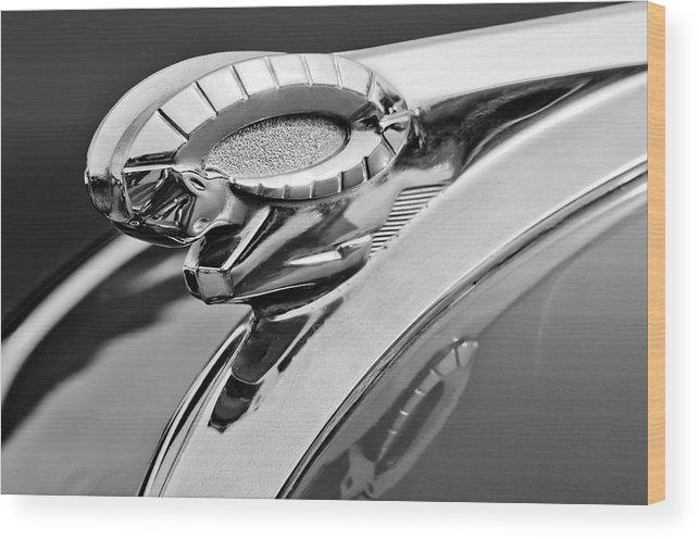 1950 Dodge Ram Wood Print featuring the photograph 1950 Dodge Ram Hood Ornament by Jill Reger
