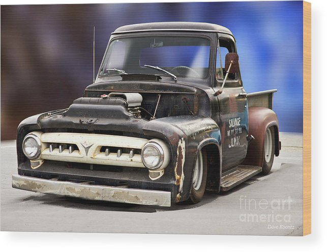 Automobile Wood Print featuring the photograph 1956 Ford F100 'workingmans' Pickup II by Dave Koontz