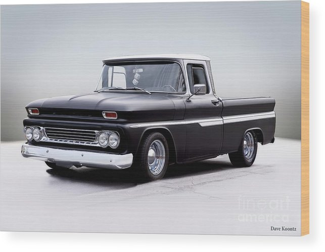 Automobile Wood Print featuring the photograph 1962 Chevrolet Shortbed Pickup I by Dave Koontz
