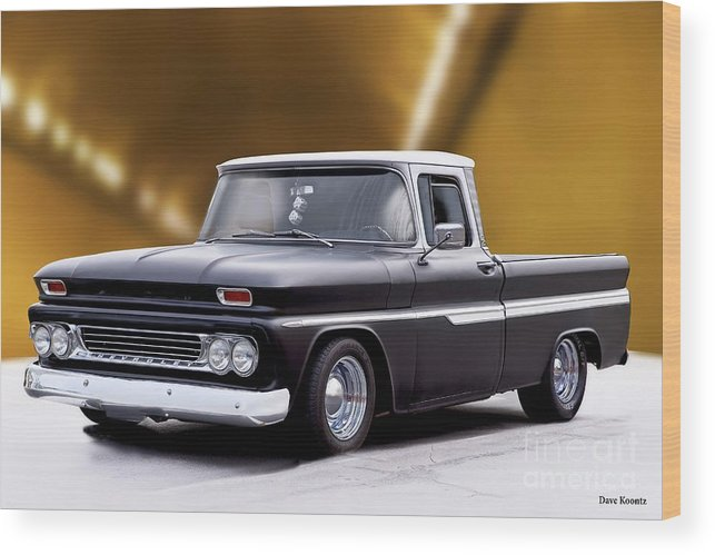 Automobile Wood Print featuring the photograph 1962 Chevrolet Shortbed Pickup II by Dave Koontz