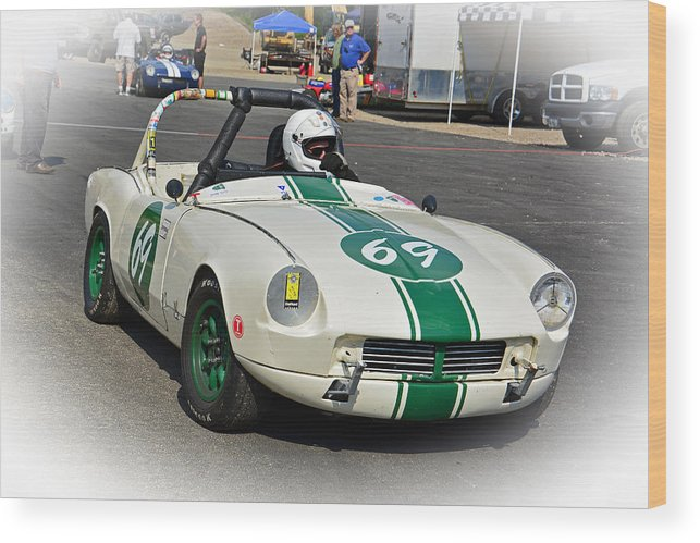 Race Wood Print featuring the photograph 1963 Triumph Spitfire by Mike Martin