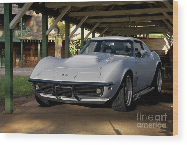 Auto Wood Print featuring the photograph 1969 Corvette Lt1 Coupe II by Dave Koontz